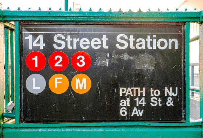 145th Street Subway Station sign, New York City